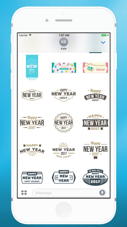 Happy New Year Message Sticker for iMessage screenshot-3