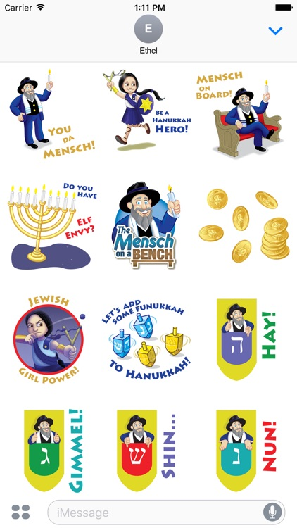 The Mensch on a Bench Stickers
