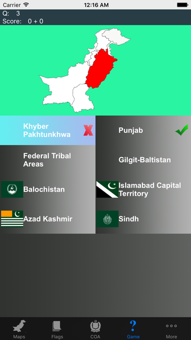 Pakistan State Maps Flags and Capitals screenshot four