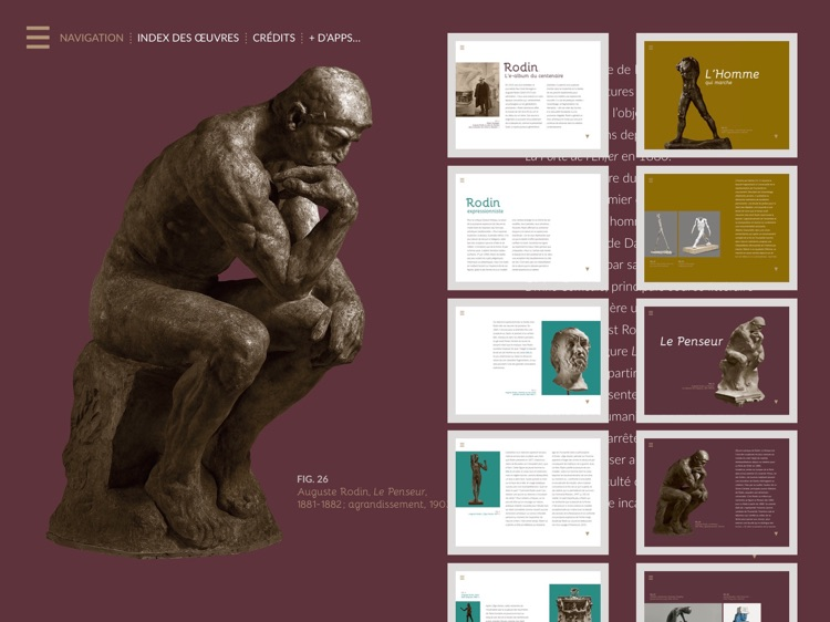 Rodin, l'e-album de l'exposition du centenaire screenshot-1