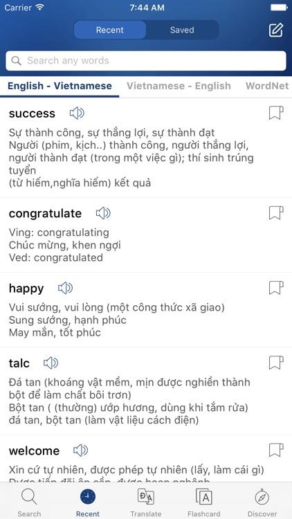 English Vietnamese Dictionary - Tu Dien Anh Viet screenshot-3