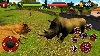 Flying Lion Simulator: Lucha de animales salvajesCaptura de pantalla de4
