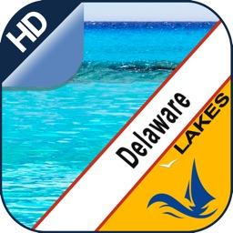 Delaware lakes GPS offline nautical fishing charts