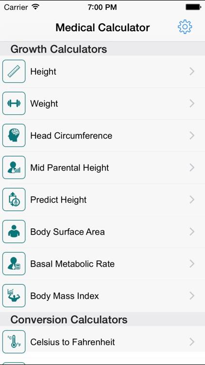Medical Calculators - Pediatric Oncall