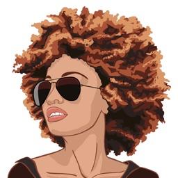 Natural Hair Moji