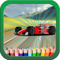 Car and transporter Coloring book games for kids