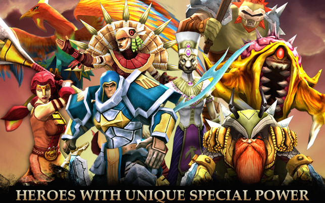 Legendary Heroes - offline MOBA Screenshot