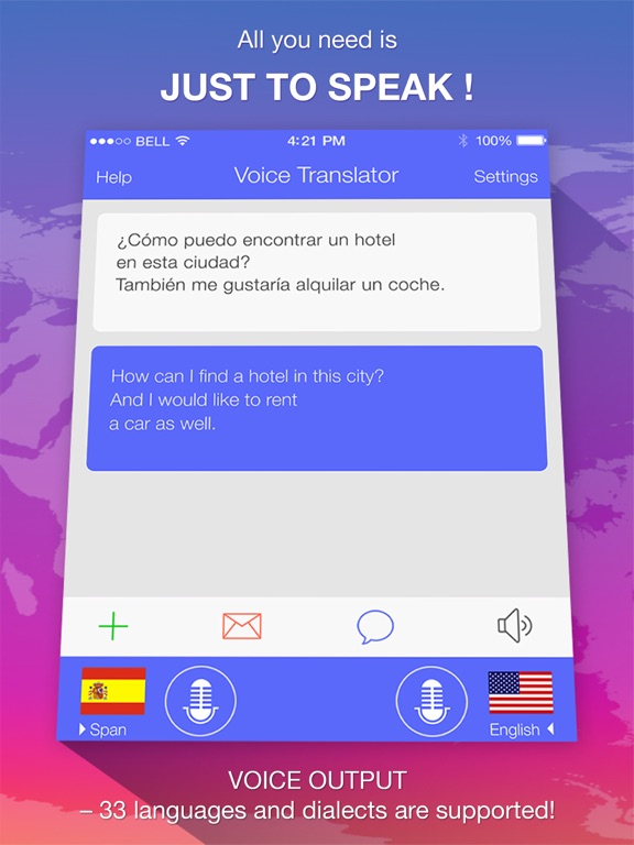 Voice Translator Freе -  translations with advanced voice recognition for travel screenshot