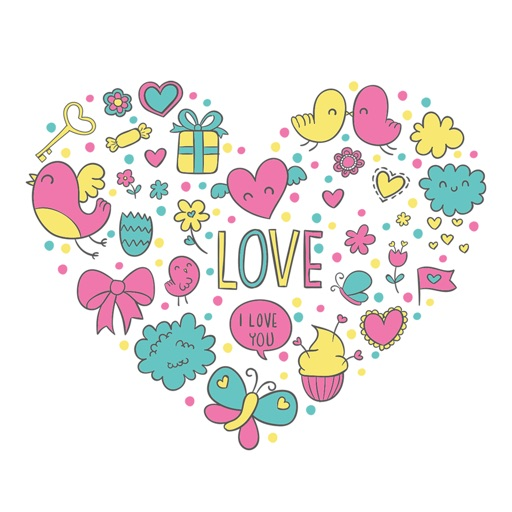 Animated LOVe Scribble Stickers