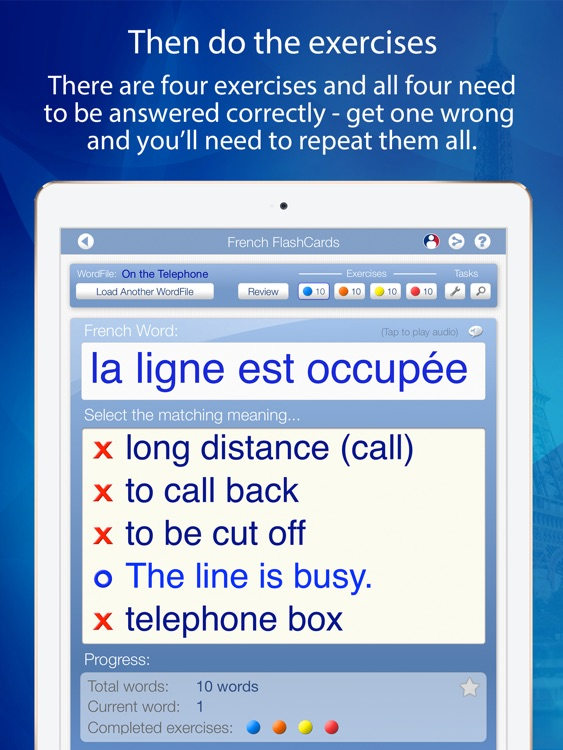 Learn French FlashCards for iPad screenshot-3