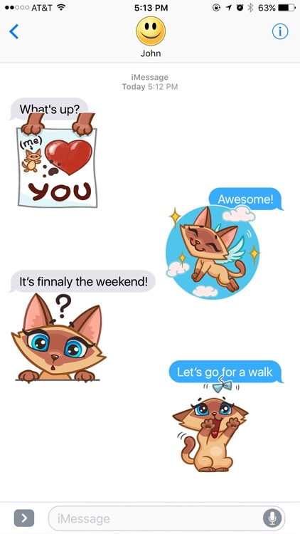Cat Wants to Have Fun Stickers