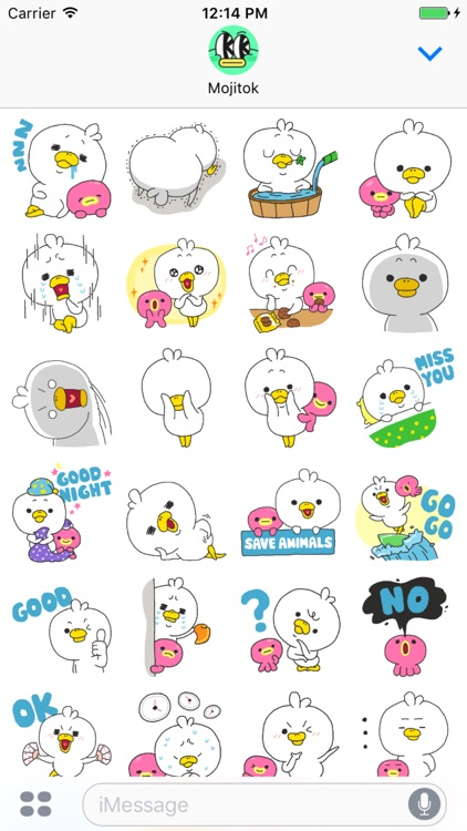 Duck Caesar Stickers