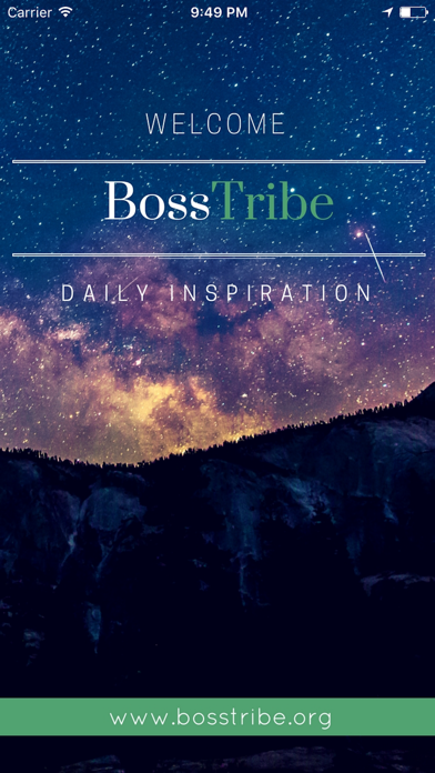 BossTribe - Daily Inspiration screenshot one