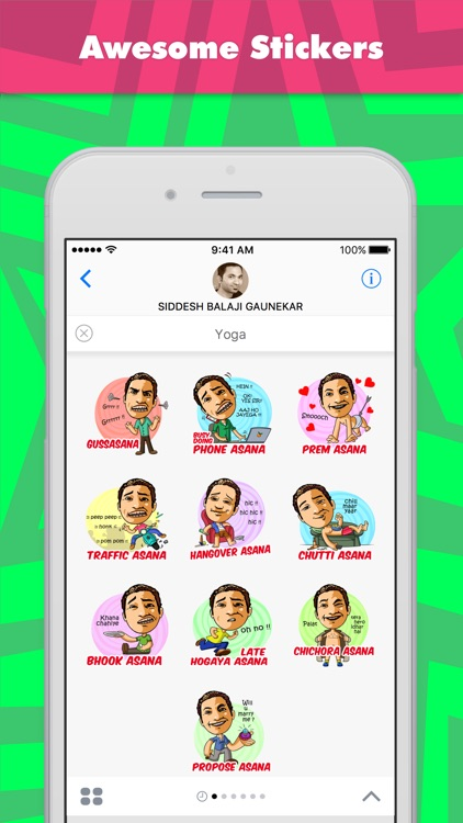 Yoga stickers by SID009