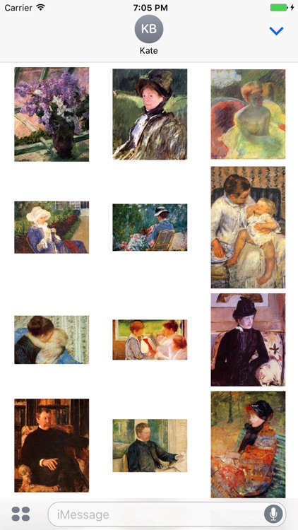 Mary Cassatt Artworks Stickers screenshot-3