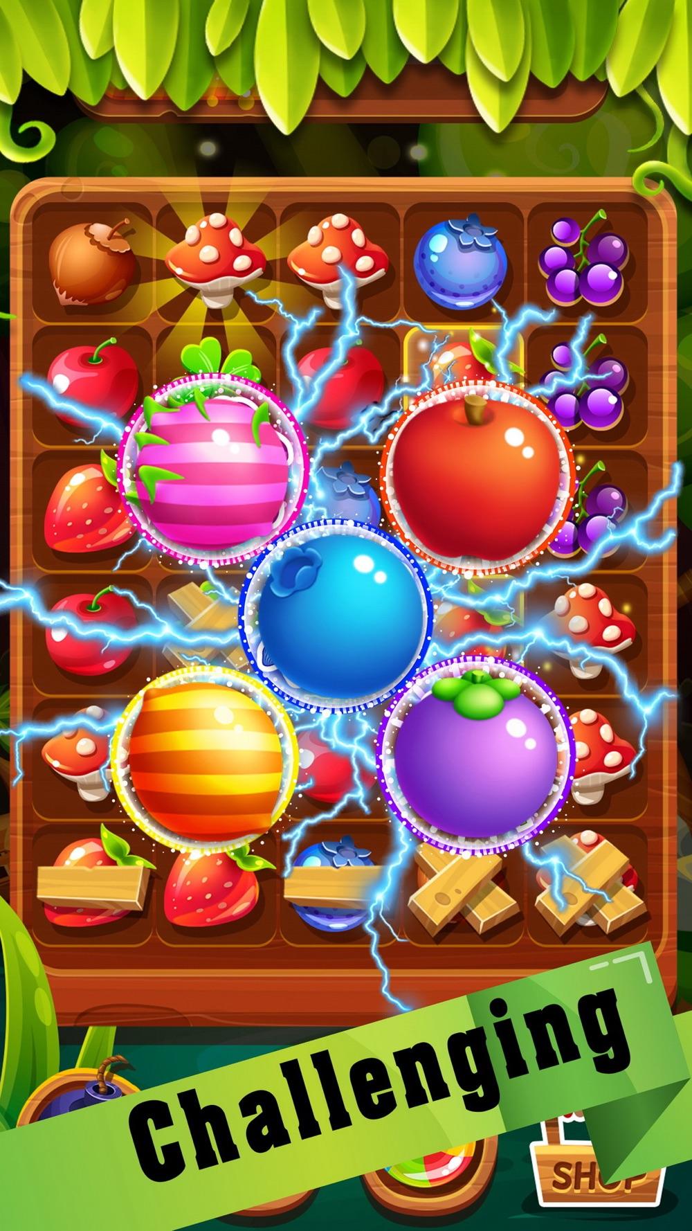 Fruit candy magic match 3 games hack tool