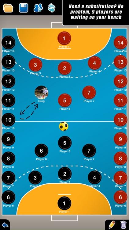 Coach Tactic Board: Handball