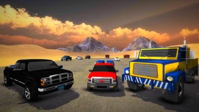 越野货运卡车驾驶模拟器的 4 × 4 吉普车 3D App 截图