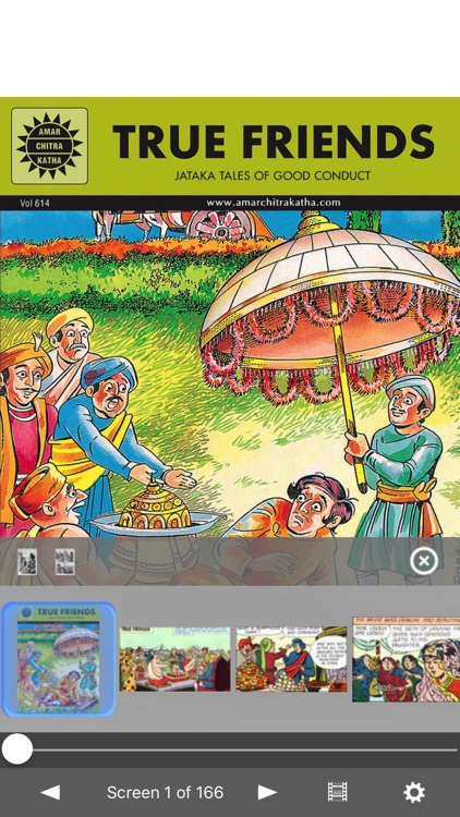 Jataka Tales-The True Friends-Amar Chitra Katha screenshot-0