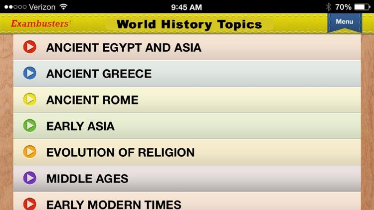 SAT World History Prep Flashcards Exambusters