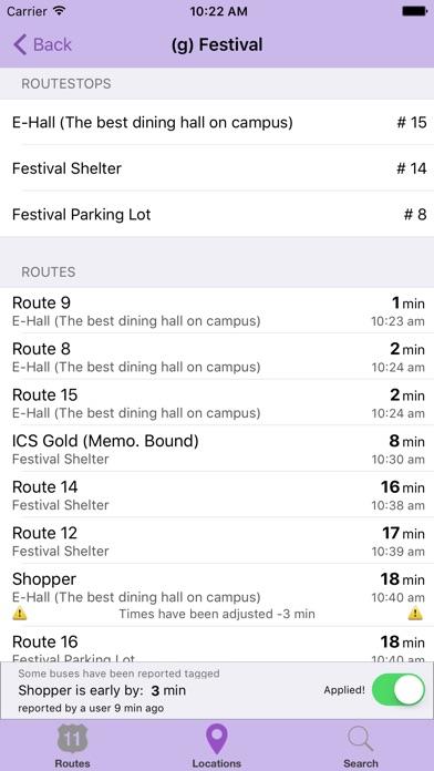 The Jmu Bus App review screenshots