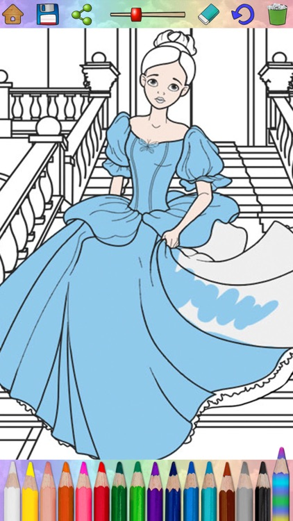 Fairy princess coloring book pages for kids