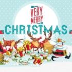圣诞贺卡和快乐,到 2017 年的报价 icon