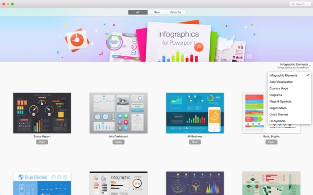 Infographics templates for ppt on the mac app store for App store screenshot template