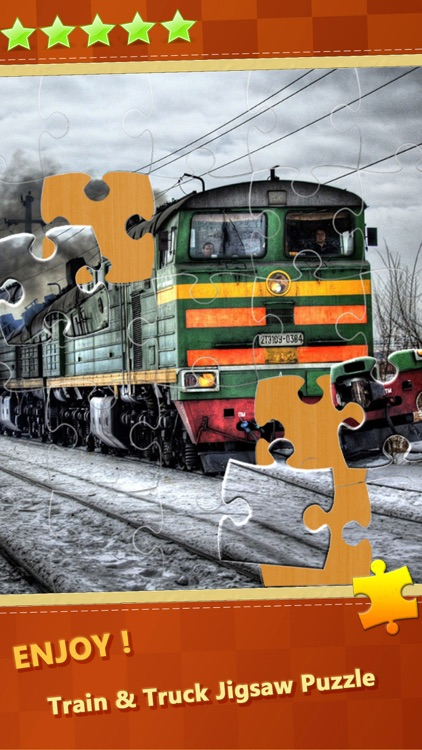 Train & Big Trucks Jigsaw Puzzle Sliding Games
