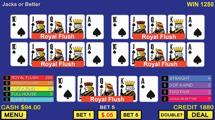 Five Play Video Poker