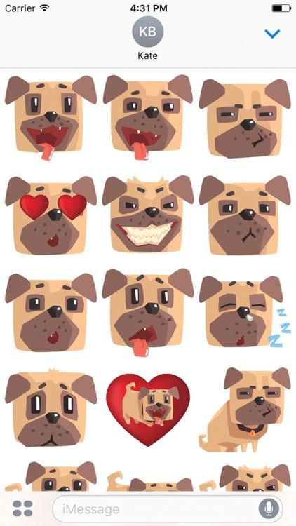 Pug Emoji And Stickers