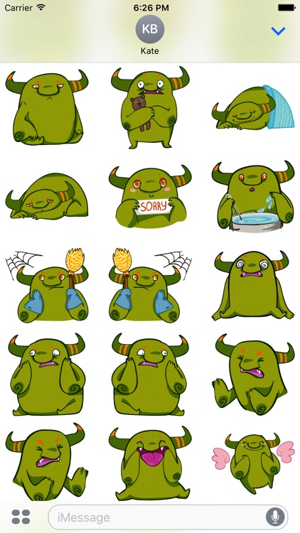 Marvin the Monster Stickers - Ogre emojies!