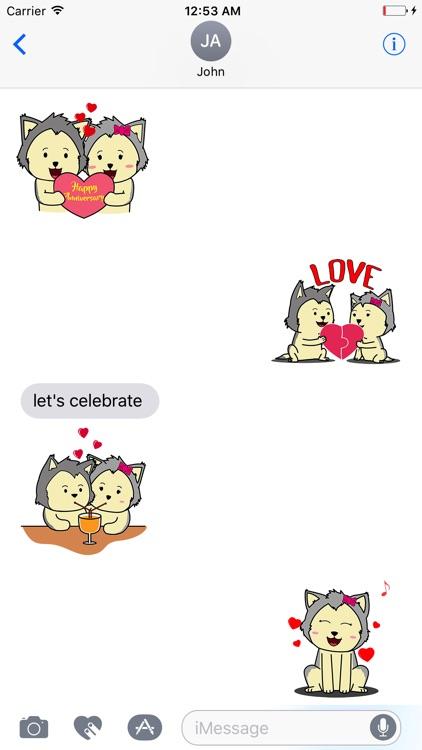 Animated HUSKy Couple - Forever Love screenshot-3