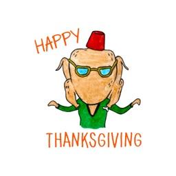 Thanksgiving stickers by Esra Olmez