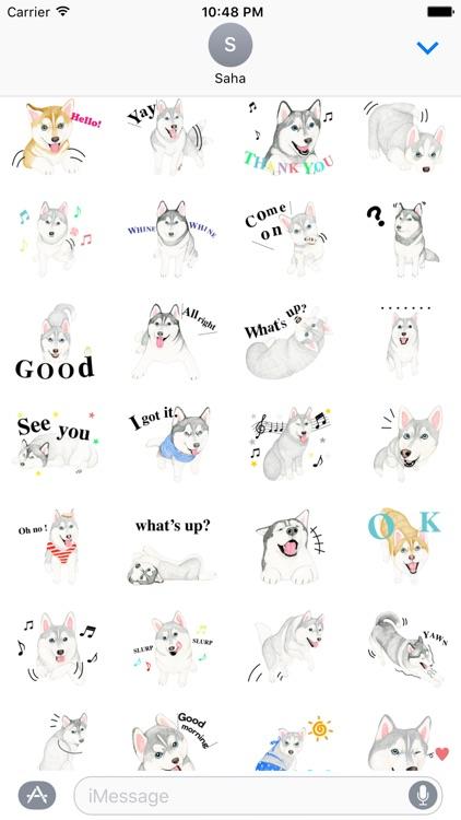 Lovely Husky Dog Stickers
