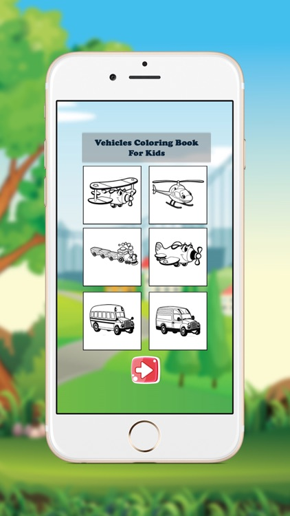 Vehicles Coloring Book for Kids