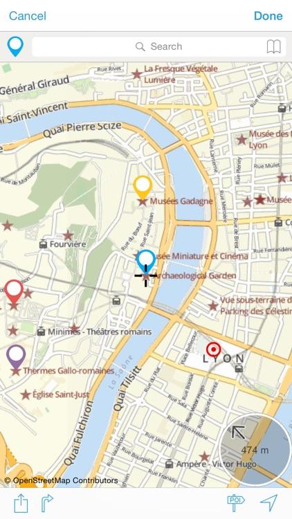 Lyon on foot : Offline Map