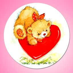 Teddy Bear I Love You Sticker Pack