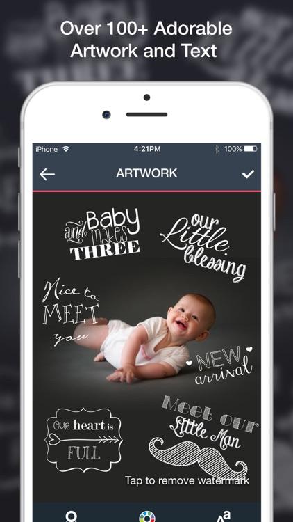 Baby Art- Baby Monthly Pictures & Baby Milestones screenshot-4