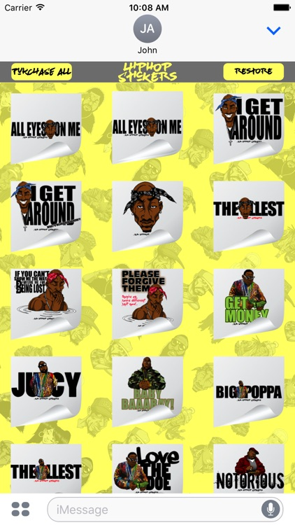 Hiphop Stickers Vol 1