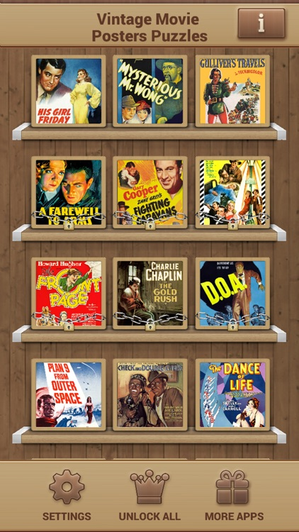 Vintage Movie Posters Puzzles screenshot-1