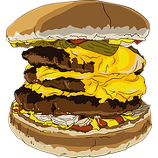 漢堡兩個貼紙包