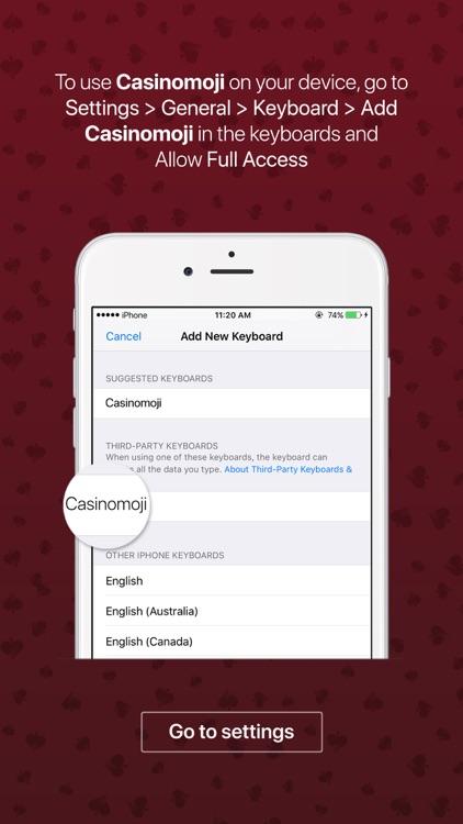 Casinomoji - emoji keyboard sticker for casino screenshot-3