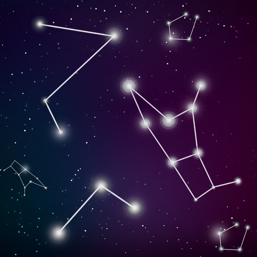 Dark Night Sky View - Star Walk Chart Map Guide by Sana Mirza