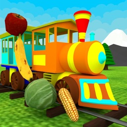 Fruits & Vegetables Train Driving Game For Kids
