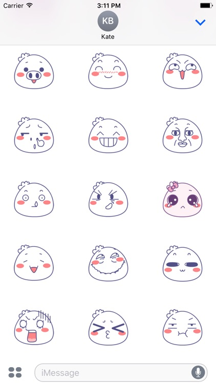 Animated Bun-Face Stickers For iMessage