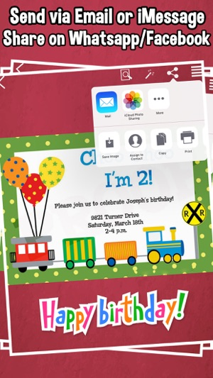 Happy birthday invitations for kids party on the app store screenshots stopboris Images