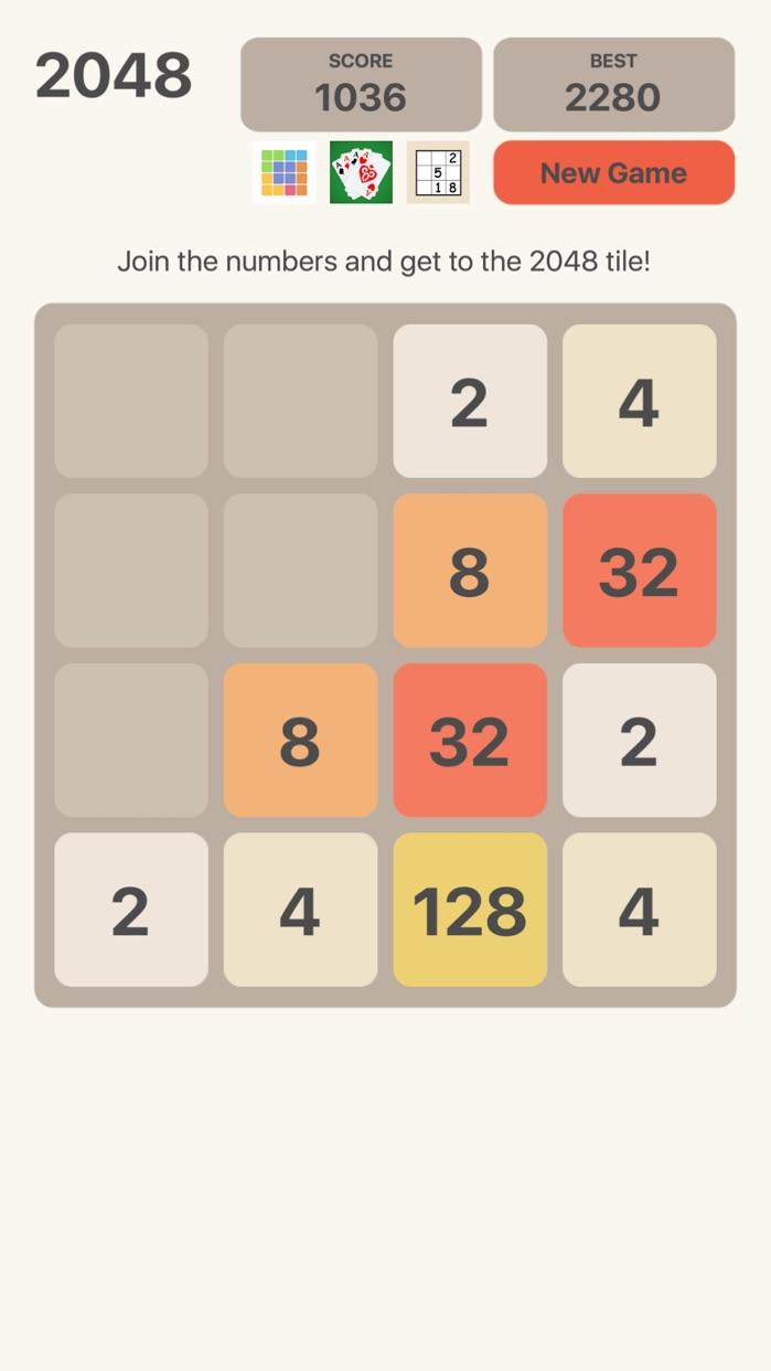 2048 Number Logic Games Screenshot