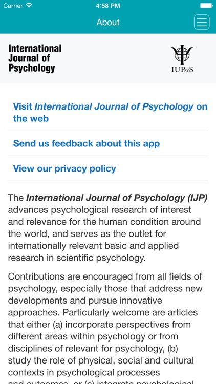 International Journal of Psychology screenshot-4