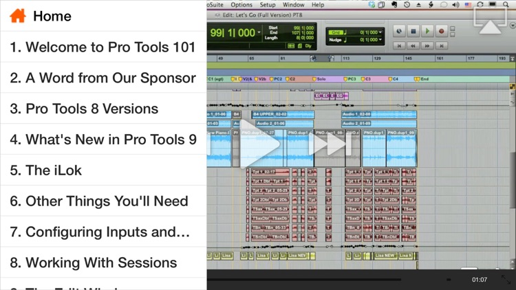 Course For Pro Tools 101 - Core Pro Tools 9 screenshot-1